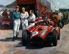 The Rivals Hawthorn, Collins & Signed by Stirling Moss print by Alan Fearnley