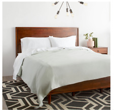 NEW Queen Size Mid-Century Contemporary Style Solid Wood Bed Frame w/ Headboard