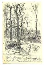 NEDERLAND 1906 BK -MET PENTEKENING --HILVERSUM - LOOSDRECHTSE BOS -- PRACHT