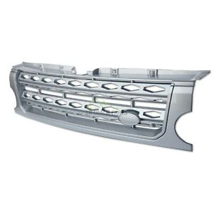 LAND ROVER DISCOVERY 3 FRONT GRILLE UPGRADE DISCO 4 STYLE CONVERSION - SILVER