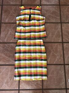 Talbots NWT Silk Two-Piece Skirt and Top, Size 8P, Ret. $240