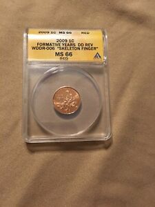 2009 ONE CENT ANACS MS 66RED FORMATIVE YEARS DD REV WDDR-006
