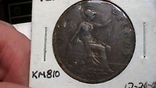 GREAT BRITAIN UK 1912  ONE PENNY YEAR TITANIC SANK!  807A9