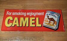 """1950s Vintage Camel Cigarette """"For Smoking Enjoyment"""" Metal Sign NOS RJR"""