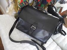 VINTAGE HIDESIGN  Black Soft LEATHER BRIEFCASE DOCUMENT BAG