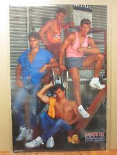 Vintage 1989 American Male Loading Dock hot guy original poster  7992
