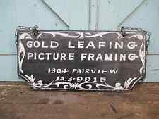 FOLK ART Antique Wooden Trade Sign GOLD LEAFING / PICTIRE FRAMING ( Paintings )