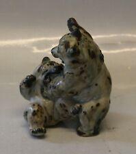 Royal Copenhagen Stoneware. RC 20240 Playful bears Knud Kyhn 15 cm Sung Glaze KK