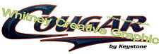 """ COUGAR"" RV Graphic Lettering Decal 57"" X 18.5""  Version 2 Dark Blue & Copper"