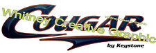""" COUGAR"" RV Graphic Lettering Decal 53"" X 17""  Version 2 Dark Blue & Copper"