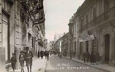 RPPC,La Paz,Bolivia,South America,Calle Comercio,c.1909