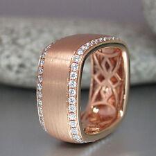 Quadratring / Ring  mit 88 Brillanten 1,03ct TW-vsi/si in 750/18K Rotgold Neu