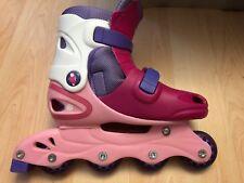 Barbie Roller Blades Adjustable Kids Size 5 Girls Red/Pink