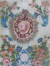 Herz Jesu Heiligenbild Andachtsbild Barock Gouache auf Pergament 17./18. Jh.