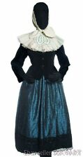 GERMAN FOLK COSTUME Schaumburg red wool skirt velvet jacket apron ethnic dress