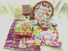 HUGE GIRL BUTTERFLY PARTY THEME SET - KIDS BIRTHDAY PARTY DECORATION  - FAVOR