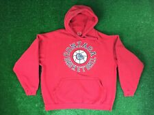 Gonzaga Basketball Mens Sz L Long Sleeve Hoodie Embroidered Sweater Spellout Red