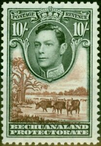 Bechuanaland 1938 10s Black & Red-Brown SG128 Fine Lightly Mtd Mint