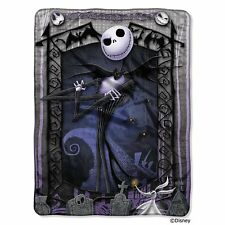 Disney Nightmare Before Christmas Throw Micro Raschel Blanket Jack & Zero