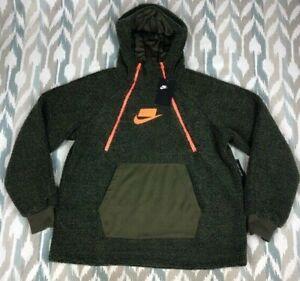 Nike Sportswear NSW Women's Pullover Sherpa Hoodie Size S Small AJ7284 395