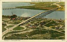 1940s Thomas A. Edison Memorial Bridge, Perth Amboy, New Jersey Postcard