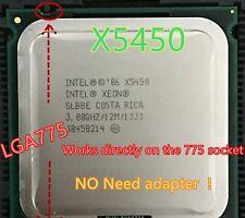 lntel Xeon X5450 3.0GHz 12M 1333Mhz CPU equal to LGA775 Core 2 Quad Q9650 CPU