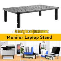Monitor Soporte TV PC Ordenador Portátil Pantalla Elevador Hierro Negro 3 Heigh