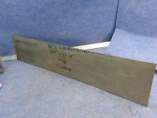 Titanium Plate Sheet Ti-6Al-4V 26 3/8'' x 5.5'' x .16'', grade 5, 1.7 kg.