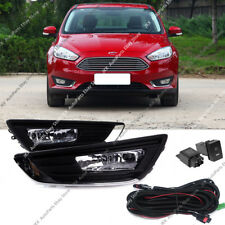 For Ford Focus 2015-2018 Clear Fog Driving Light Lamp Harness Switch Kit w/Bulb_