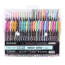 48x Color Gel Pen Glitter Scrapbooking Ink Pens Drawing Craft Marker Stationery