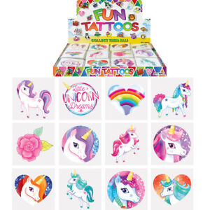 Unicorn Fun Tattoos Party Bag Fillers Party Loot Birthday Stocking Fillers