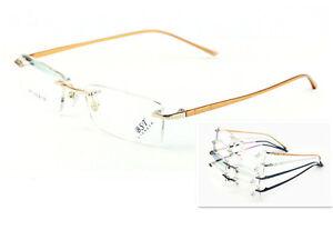 Titanium Alloy Rimless Eyeglass Frame Man Women Glasses Spectacles RX able 8867
