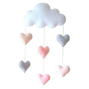 Lovely Cloud Tent Wall Hanging Decor Toys Kids Room Decoration Photo Props K7X2
