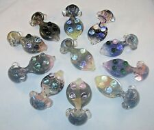 """Hand Blown Glass Abstract Animal Tobacco Pipe 5"""" Multi Colored Dichroic Glass"""