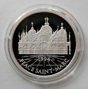 """France: 100 Francs/15 Ecus 1994 """" Saint-Marc """", Km 1068, Pp, Proof, Rarement"""