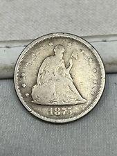 1875-S US Silver Twenty 20 Cent Piece #87