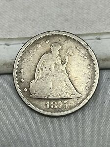 1875-S US Silver Twenty 20 Cent Piece #87