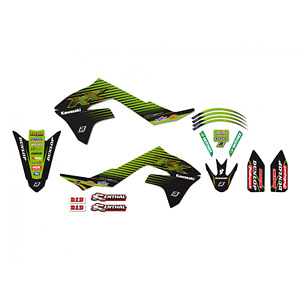 Adesivi grafiche Kawasaki Kxf 450 2019 2020 moto cross Racing Team in Crystall