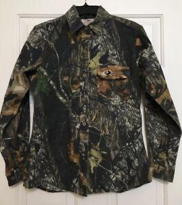 Women's Mossy Oak size M break up camouflage long sleeve button up shirt