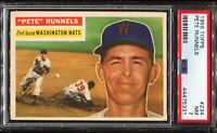 1956 Topps Baseball #234 PETE RUNNELS Washington Nationals PSA 7 NM