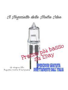 LAMPADINA LAMPADA G4 20W ALOGENA 12V BISPINA Basso Consumo Acquisto minimo 5 pcs