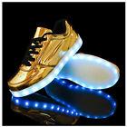 Soirée Fête Homme Femmes Sneakers USB LED Lumière Lumineux Chaussures Shoes