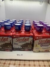 24 SlimFast Advanced Energy Meal Shake-16 Rich Chocolate/8 Vanilla Exp 6/20-4/20