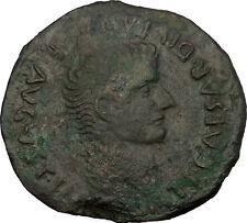 TIBERIUS 21AD Serobriga Spain Authentic Ancient Roman Coin of Bible Times i52983
