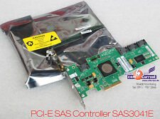 NEW SAS RAID SATA CONTROLLER PCI-E LSI SAS3041E SERVER 2003 2008 4-PORT 3Gb/s
