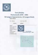 Terry brisley portsmouth 1979-1981 original hand signed coupe/carte