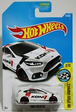 FORD FOCUS RS * 2017 HOT WHEELS * PR5 WHEEL VARIATION CRPR5 VERY RARE WHITE KONI