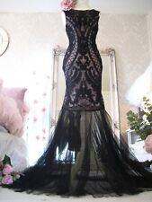 Coast size m 10 12 nude black sequin fishtail maxi dress NEW TAGS RRP £199