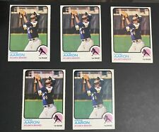 1973 TOPPS HANK AARON #100 LOT OF 5 CARDS G-VG