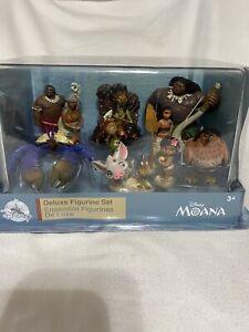 Disney Store Disney Moana Deluxe Figurine Playset NEW. Great Cake Topper